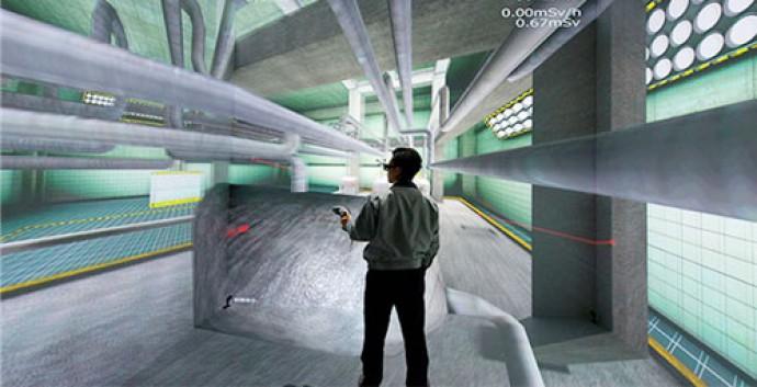 2011년 후쿠시마 원전 사고 이후 일본은 제1원전 내부를 VR로 재현해 원전 해체 작업에 적극 활용하고 있다. © Naraha Remote Technology Development Center